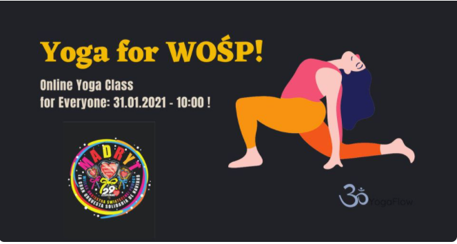 Yoga Online for WOŚP! – Online Yoga Class for Everyone 31.01.2021!